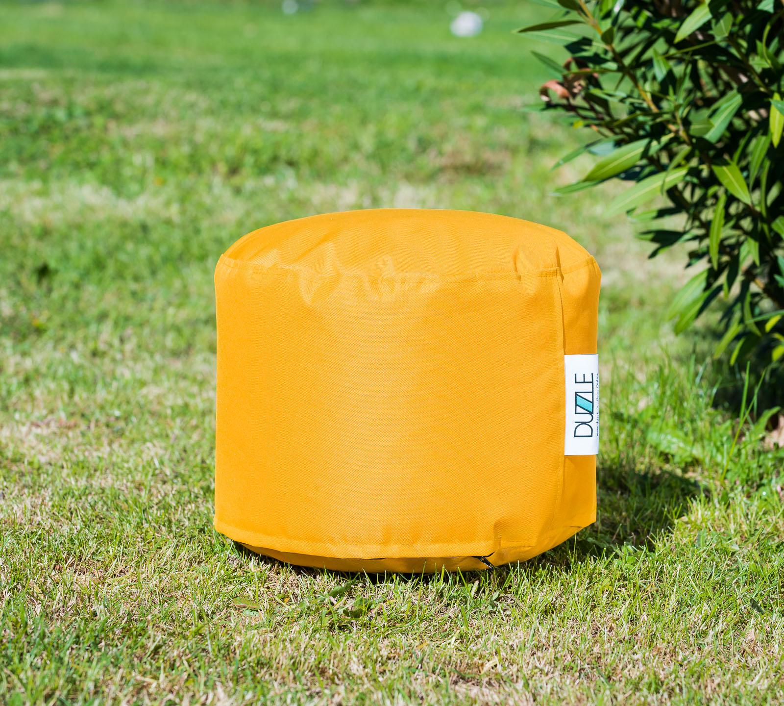 Pouf Mini da esterno color giallo zafferano   Duzzle