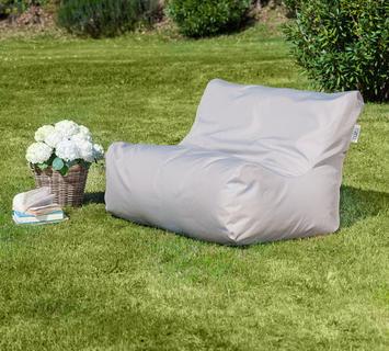 Duzzle divanetto sacco imbottito grigio perla outdoor