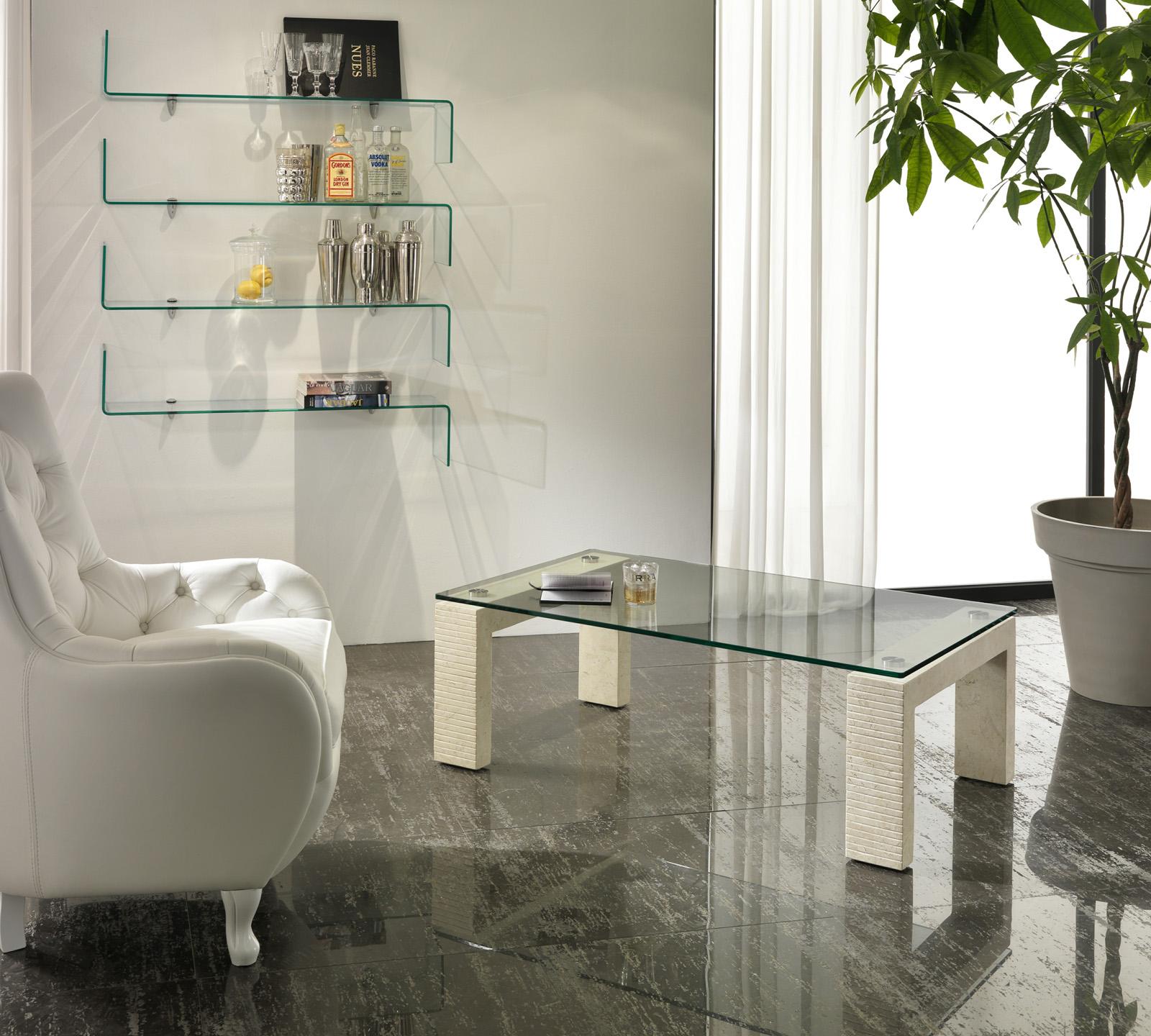 Tavolino da salotto millerighe bianco duzzle for Salotto bianco