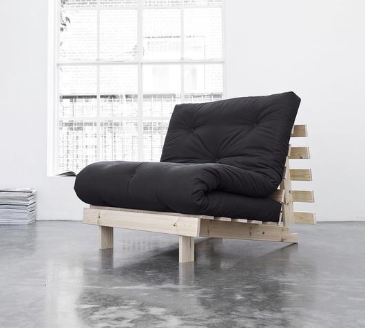 Duzzle divano letto roots karup grigio scuro