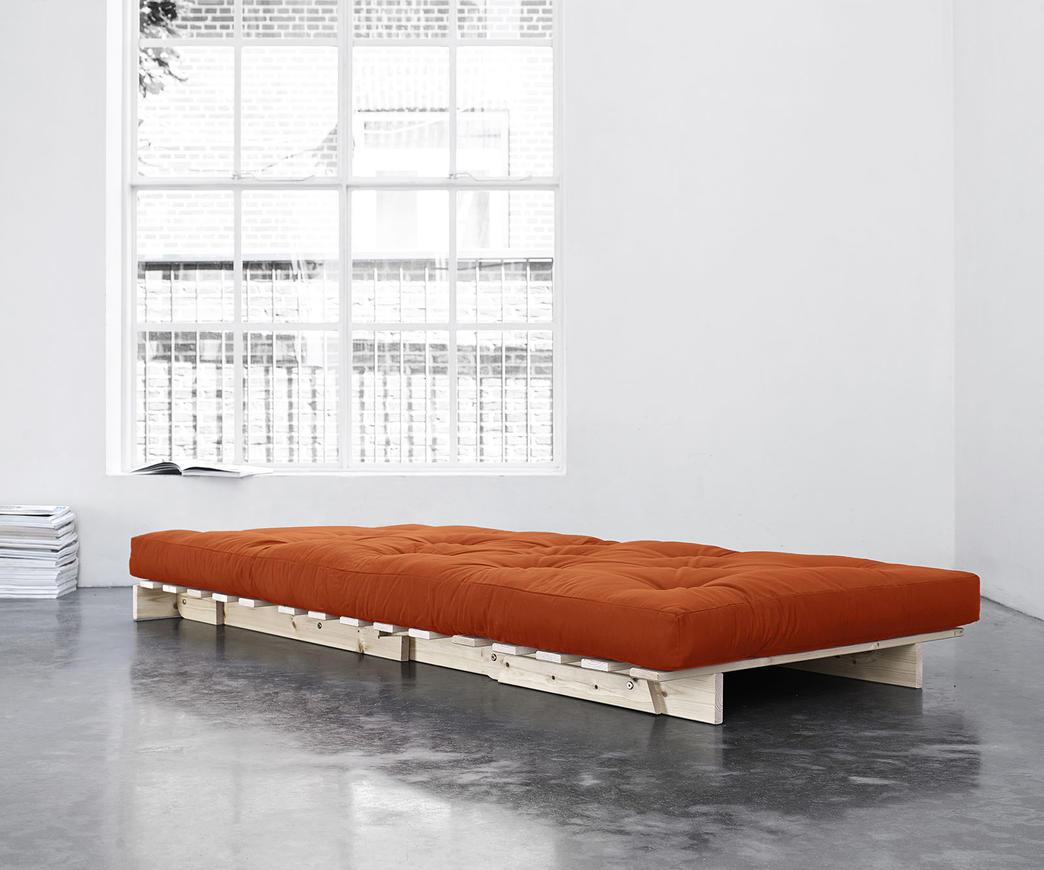 Divano letto roots 90 cm karup arancione duzzle for Divano 90 cm