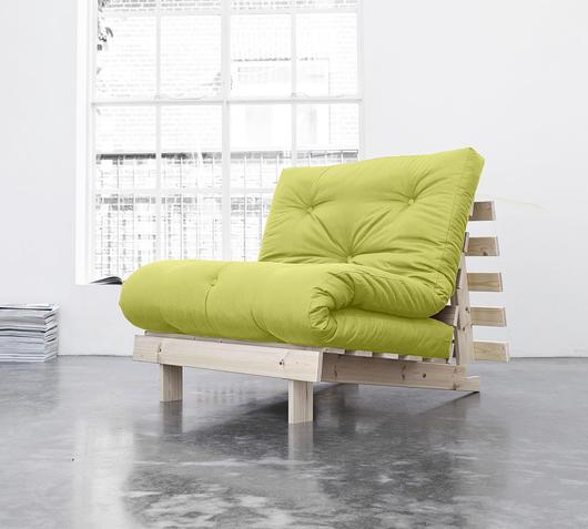 Duzzle divano letto roots karup pistacchio