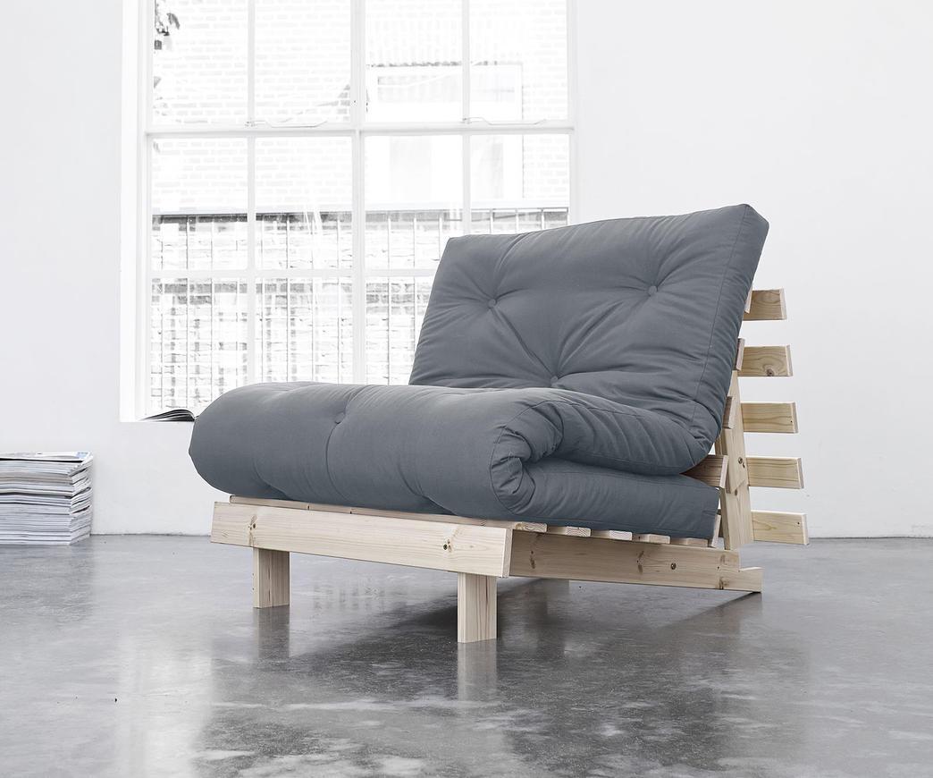 Poltrona Letto Futon : Divano letto roots cm karup grigio chiaro duzzle