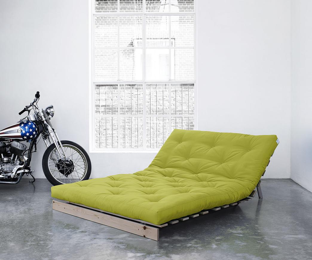 Divano letto roots 140 cm karup pistacchio struttura natural duzzle - Divano letto larghezza 140 cm ...