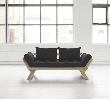 Duzzle divano trasformabile bebop karup nero chiuso