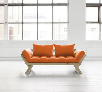 Duzzle divano trasformabile bebop karup arancione chiuso