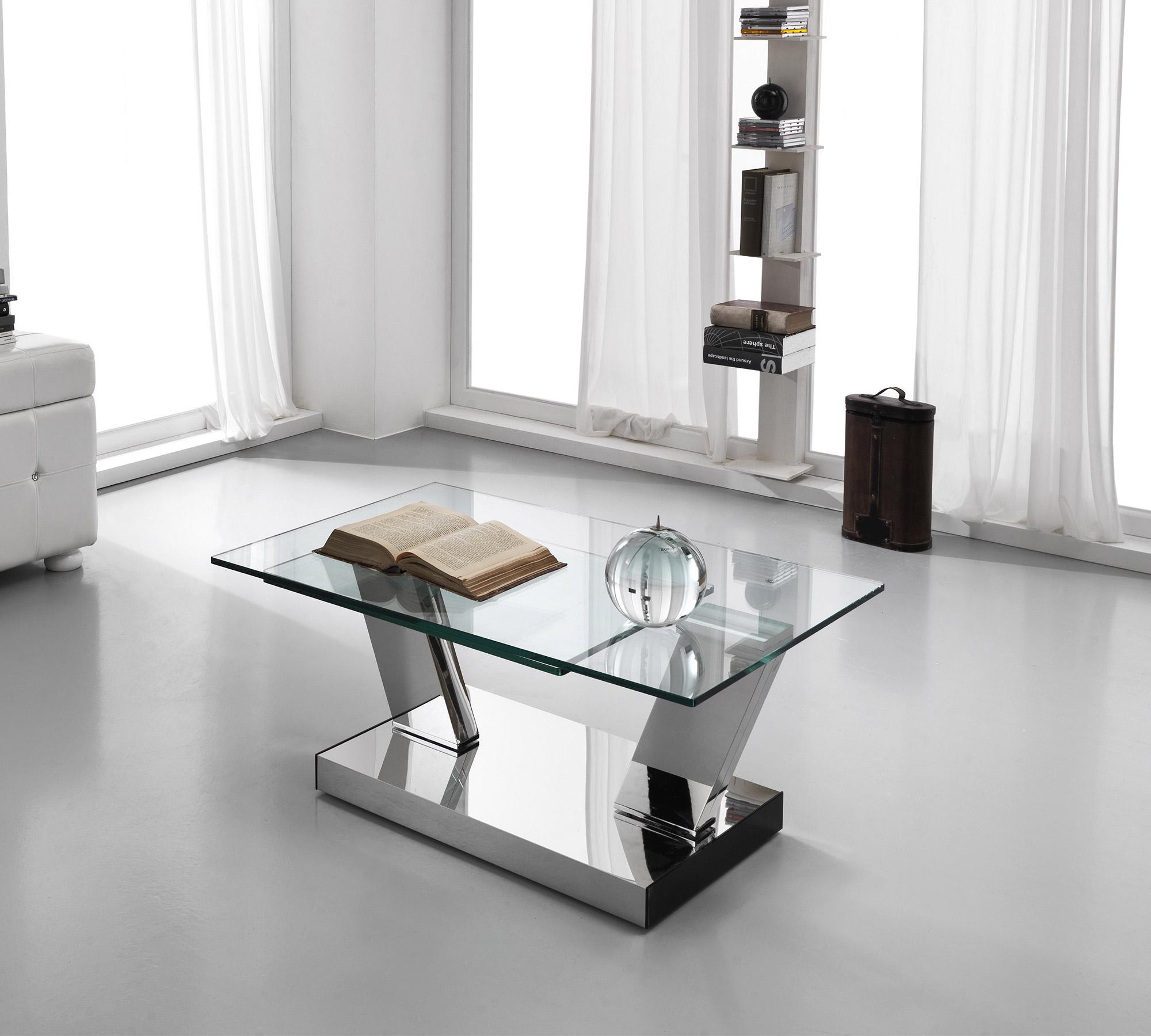 Tavolino Salotto Vetro E Acciaio.Tavolino Da Salotto Girevole Absolute 15