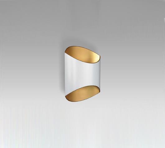 Duzzle lampada applique section bianca zuma line