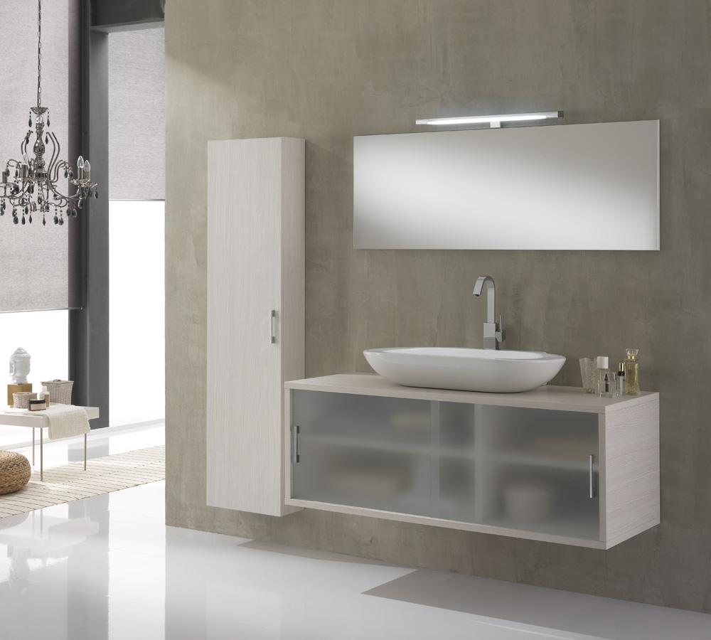 Arredo Bagno Giava 06 Pino Bianco - cm 130 | Duzzle
