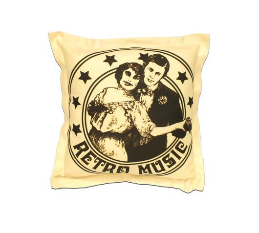 Duzzle cuscino arredo retro music