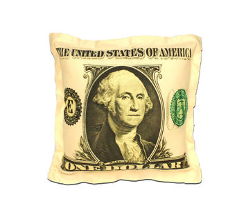 Duzzle cuscino arredo dollaro