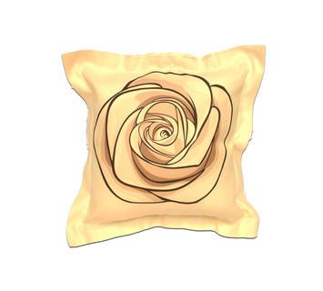 Duzzle cuscino arredo rosa stilizzata