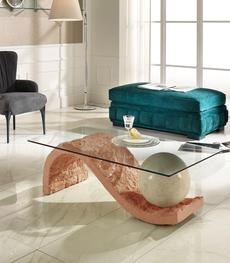 Tavolini da salotto in pietra fossile e cristallo duzzle for Tavolini da salotto bianchi