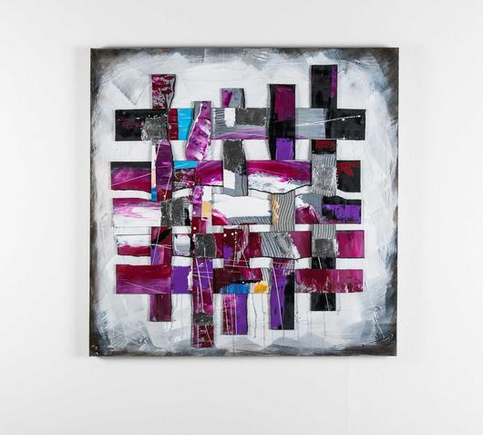 Duzzle quadro web purple stones
