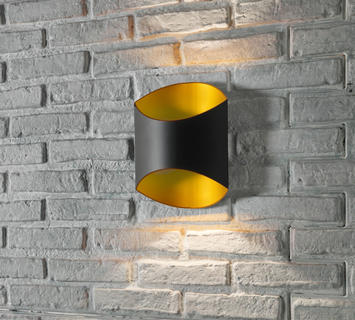 Duzzle lampada applique section nera oro zuma line parete