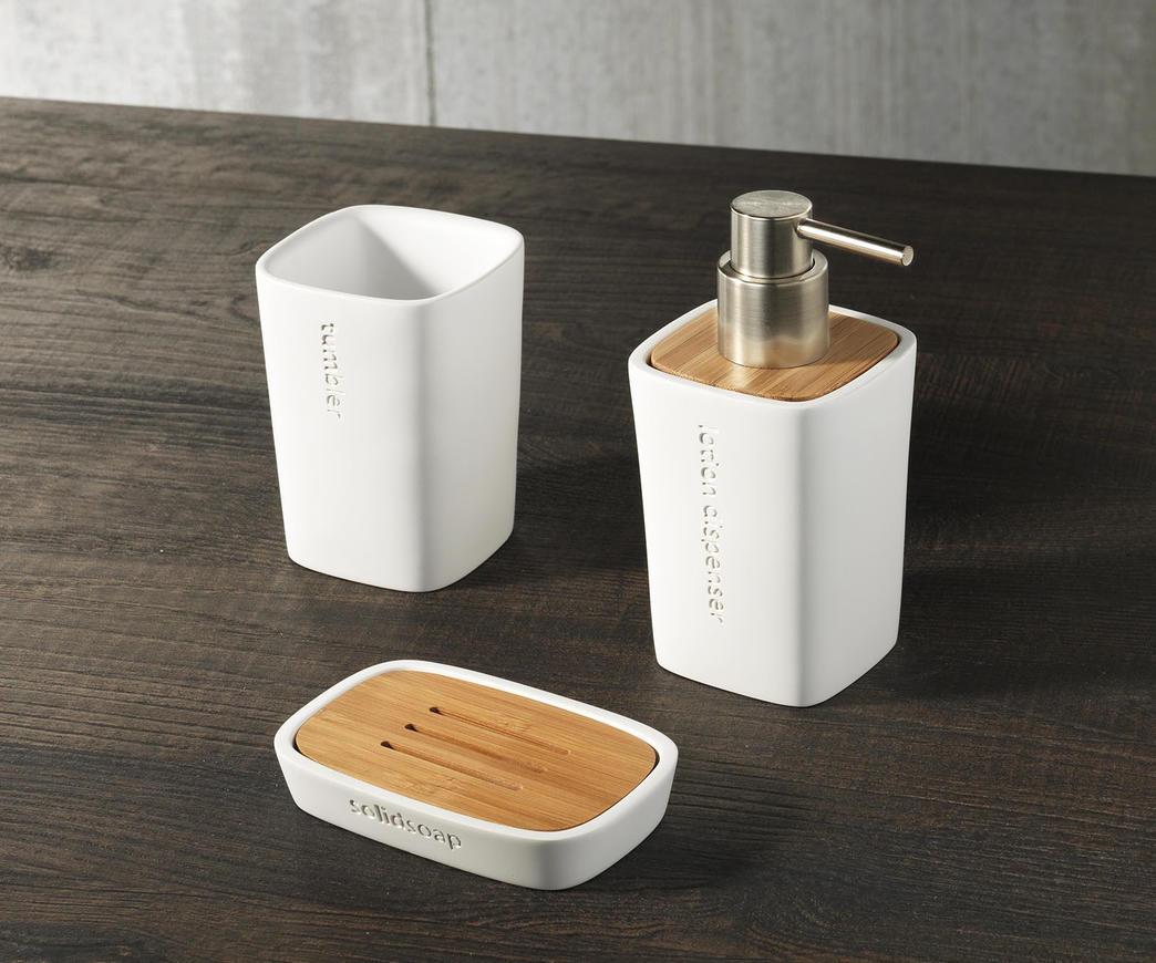 Set accessori bagno tft cod 4011 c white duzzle - Accessori bagno amazon ...