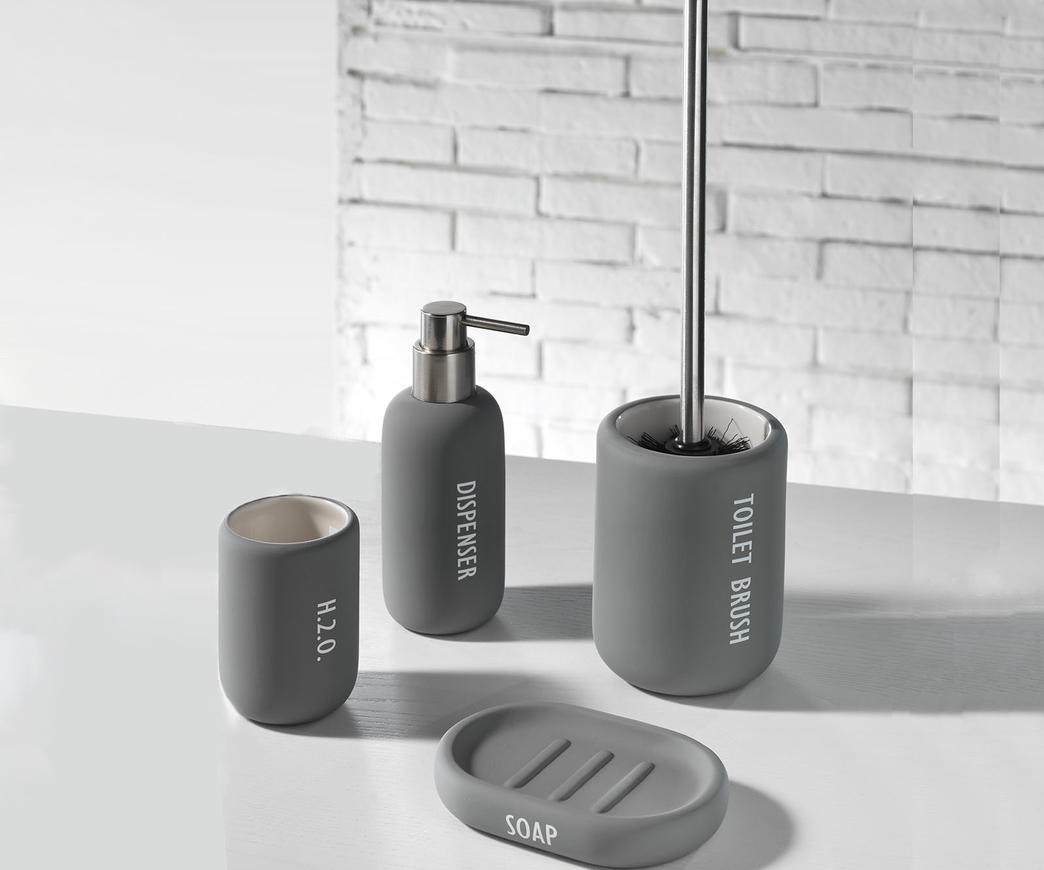 Set accessori bagno tft cod ru gray duzzle