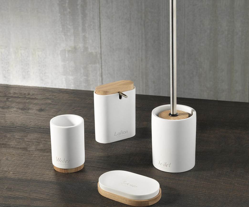 Set accessori bagno tft cod c white duzzle