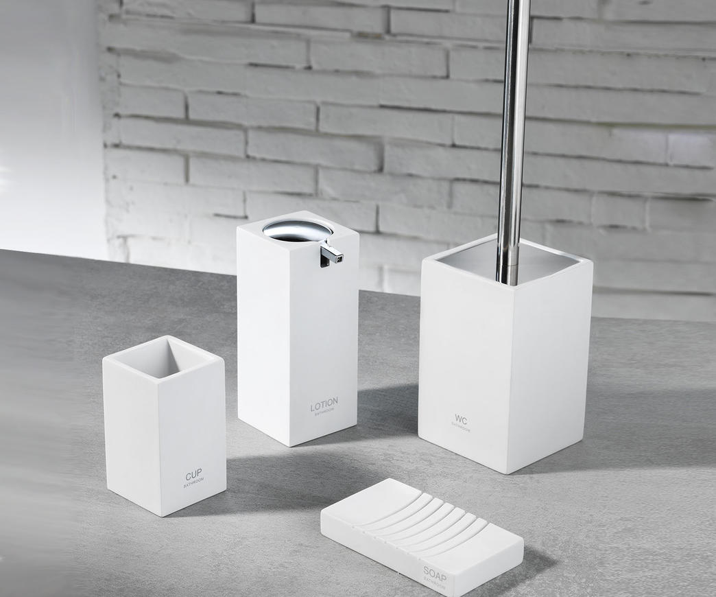 Set accessori bagno TFT (cod. 4357-A-WHITE) | Duzzle