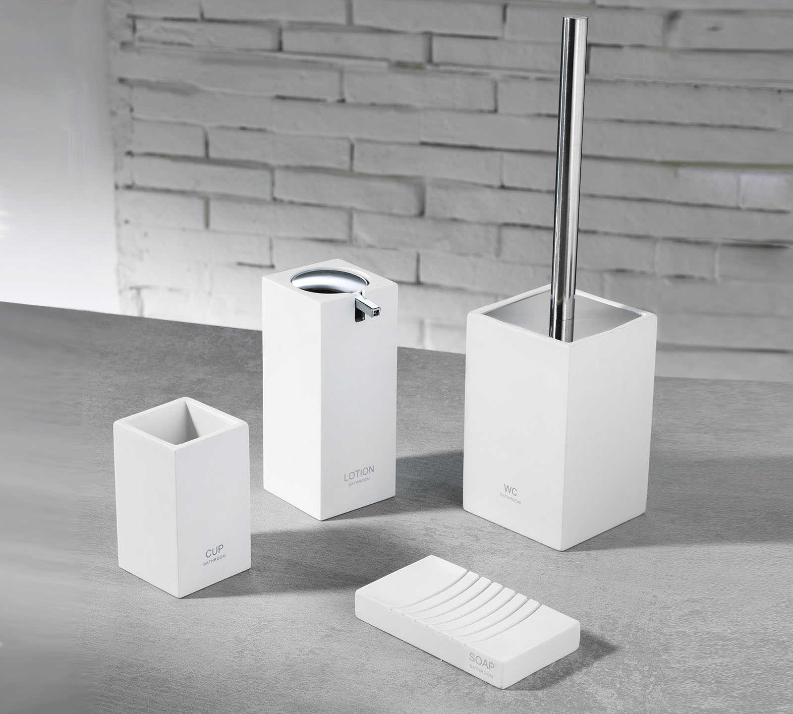 Set accessori bagno TFT (cod. 4357-A-WHITE) | Duzzle