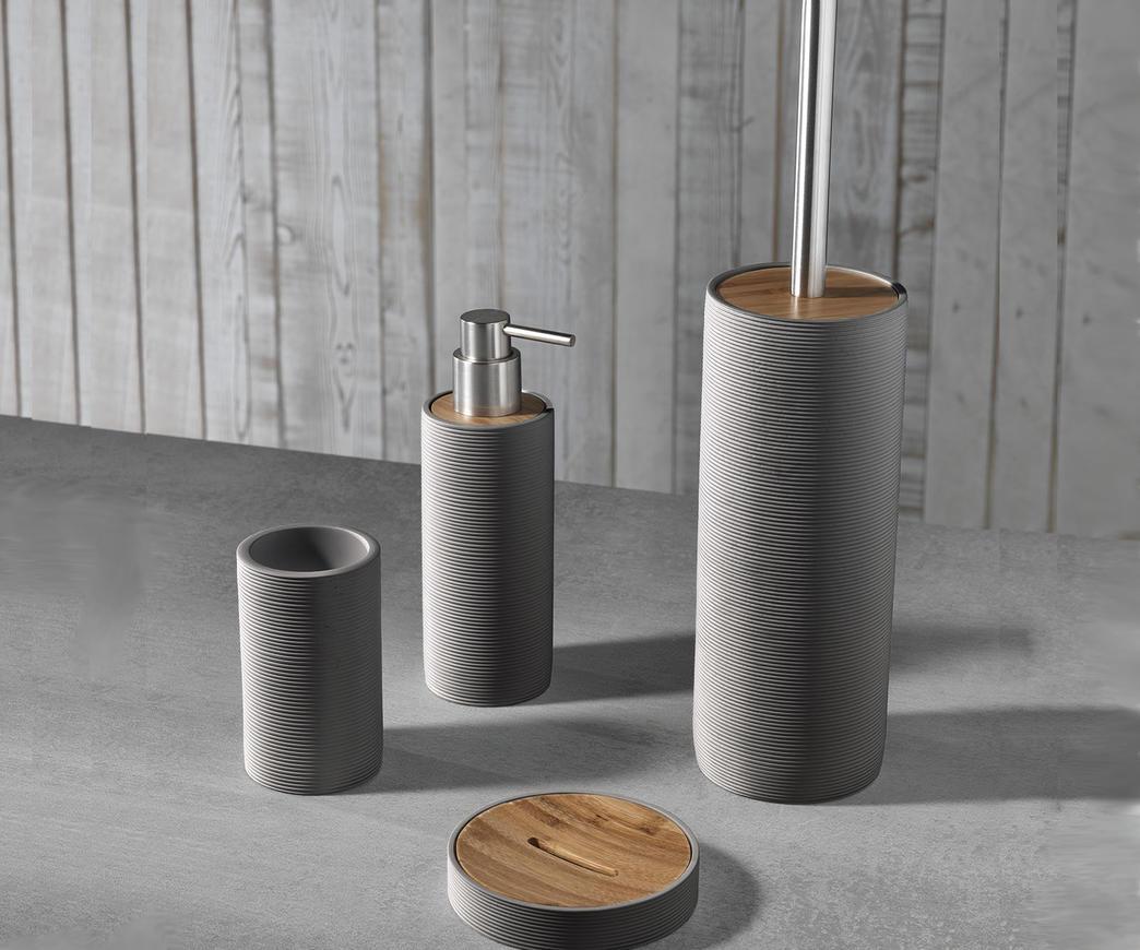 Accessori Bagno Marrone : Set accessori bagno tft cod c brown duzzle