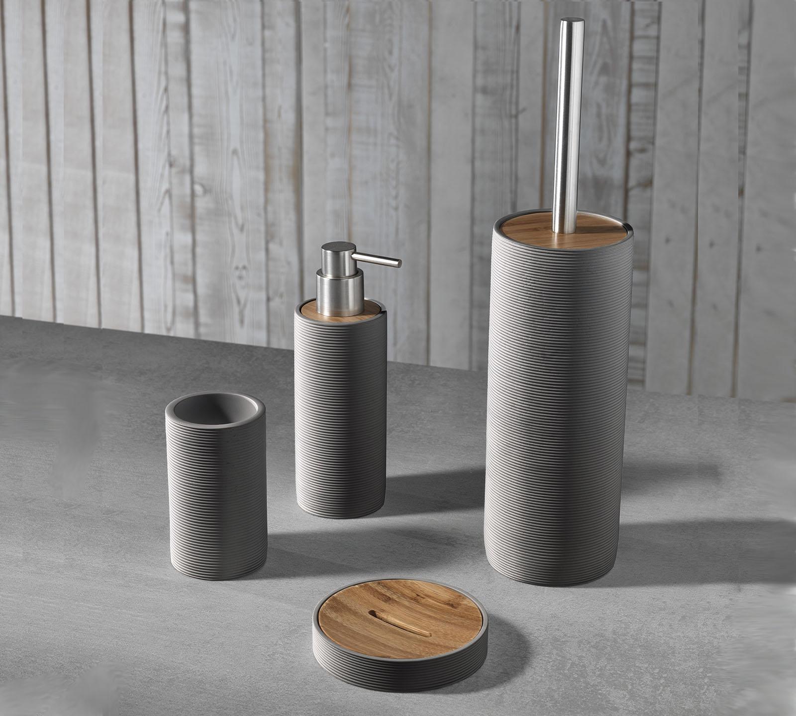 Set accessori bagno TFT (cod. 4042-C-BROWN) | Duzzle