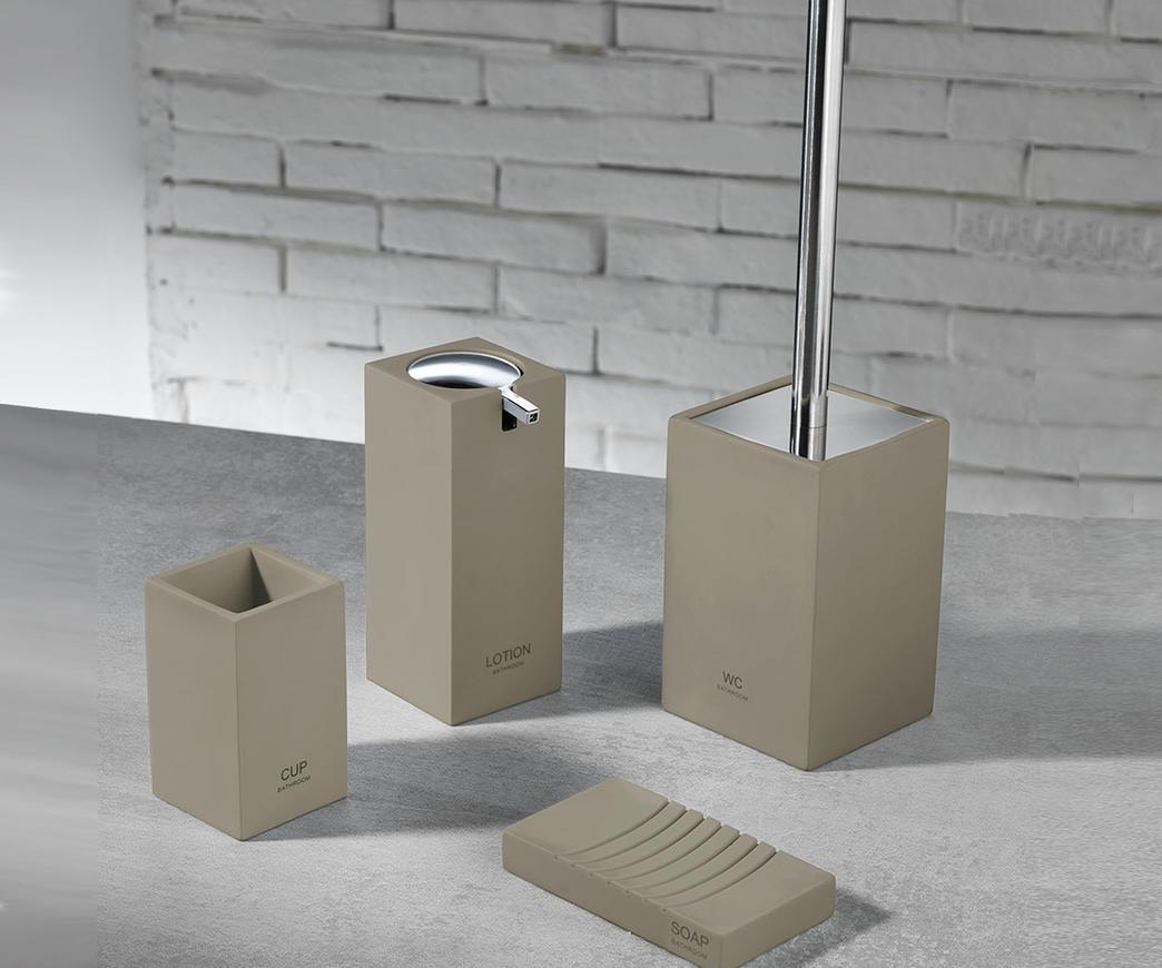 Set accessori bagno TFT (cod. 4357-A-TAUPE) | Duzzle