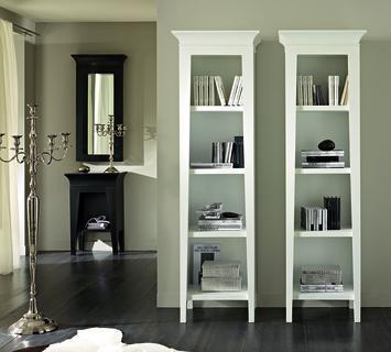 Duzzle libreria colonna legno betulla bianco