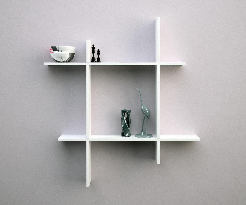Mensola me05 frassino bianco duzzle - Mensole bagno design ...