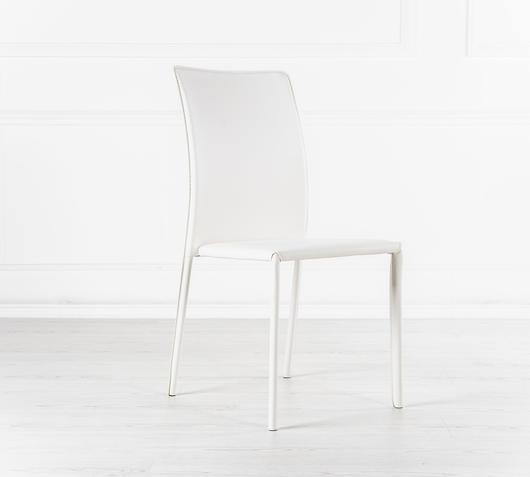 Duzzle sedie pelle colore bianco stones sissy lato