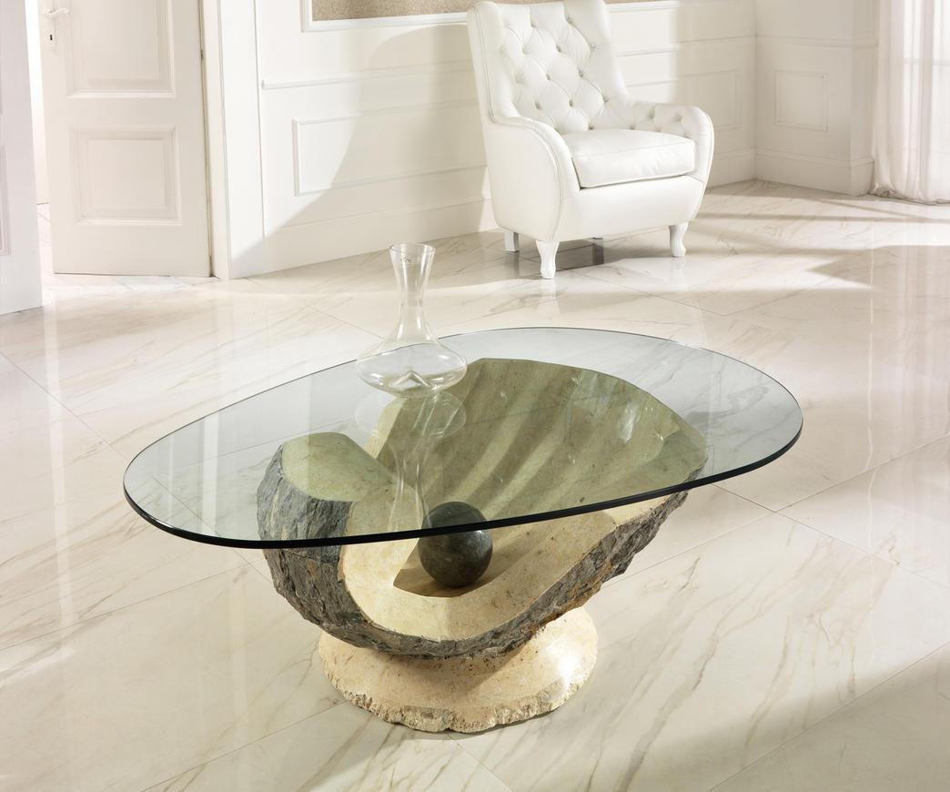 Tavolini Da Salotto Cristallo E Pietra.Tavolino Da Salotto Venere In Pietra Fossile