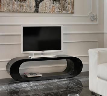 Duzzle stones tavolinetto porta tv in pietra nera