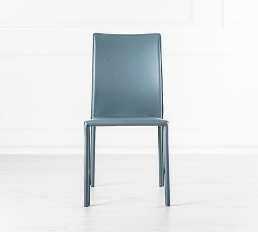 Duzzle sedie in pelle colore grigio stones sissy fronte
