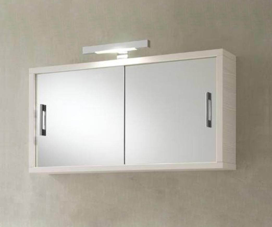 Pensile Specchio Contenitore Per Bagno.Specchio Contenitore Gv400 Pino Bianco