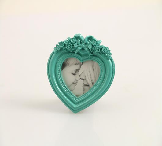 Duzzle cornice cuore turchese resina villa deste