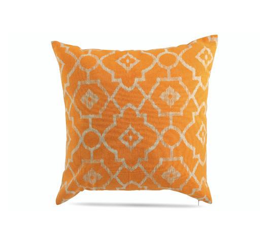 Duzzle cuscino decorativo arancione fantasie geometriche