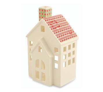 Duzzle casetta candela ceramica natale decorazione villa deste