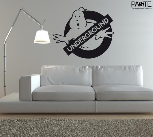 Duzzle sticker da muro underground ghost