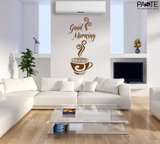 Duzzle sticker da muro good morning