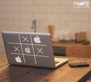 Duzzle sticker macbook tris apple vinile