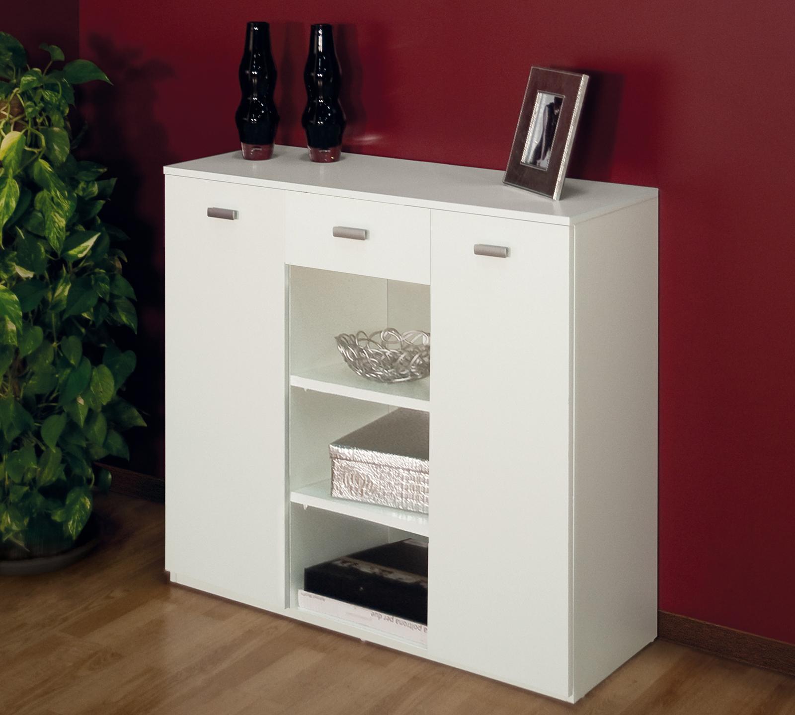 Mobiletto raffinato bianco duzzle for Mobiletto ingresso ikea