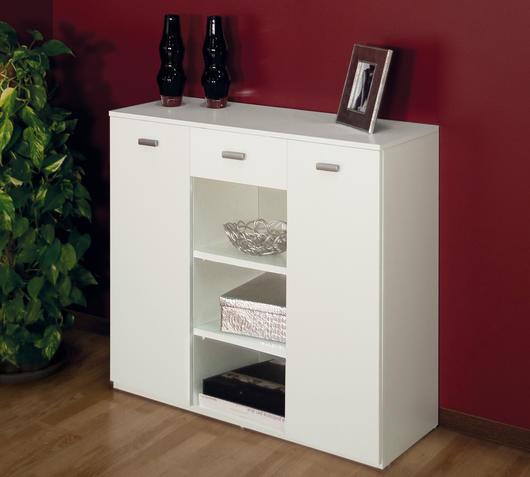 Duzzle mobile due ante un cassetto due vani giorno bianco mobiletto raffinato mobiletto raffinato