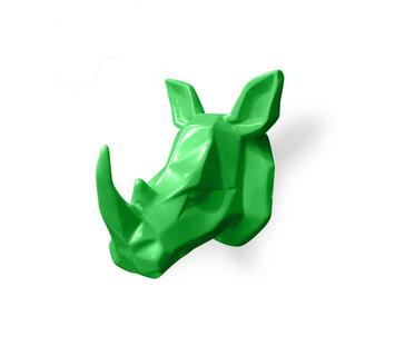 Duzzle stones stone  decor oggettistica rinoceronte verde