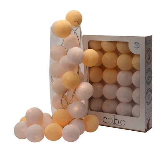 Duzzle ghirlanda luminosa atena box 20 sfere cobo confezione deluxe