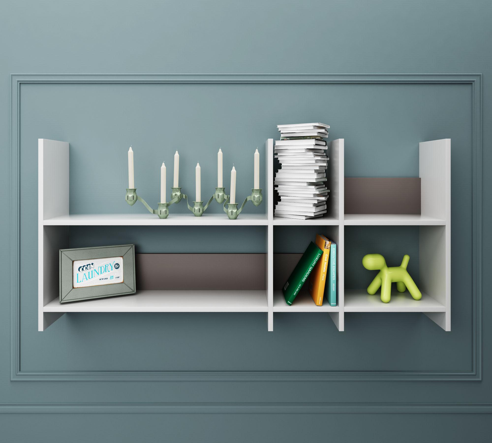 Libreria twist 002 bianca duzzle for Libreria a muro bianca