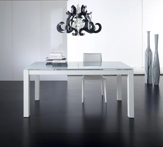 Duzzle spam tavolo allungabile stones bianco ecopelle