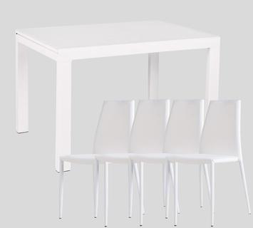 Duzzle promozione tavolo banner quattro sedie offerta carnevale