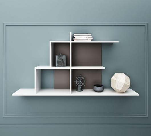 Duzzle mensole melaminico bianco design twist librerie fronte
