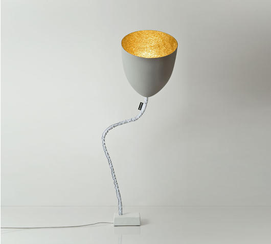 Duzzle piantana flower cemento in es artdesign
