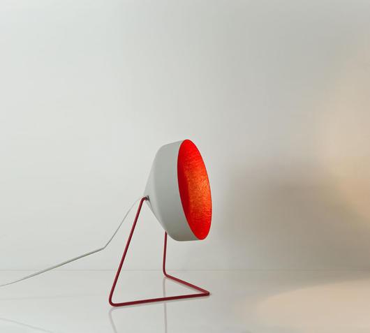 Duzzle lampada da terra cyrcus f cemento rosso in es artdesign